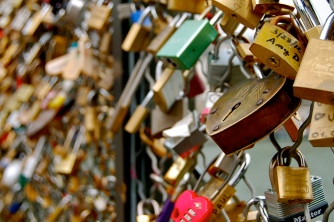 Locks of love. Paris, France.